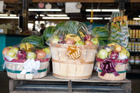 Gift Baskets at Southside Produce Market in Baton Rouge, Louisiana